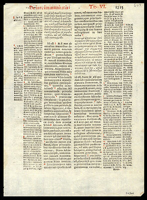 Canon Law Justinian Code  1591 Leaf Lot (4) New Legal Digest Roman Catholic