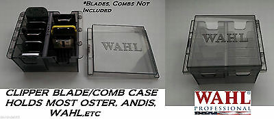 WAHL Clipper BLADE&ATTACHMENT Guide COMB STORAGE CASE Tote*Holds 8 ANY BRAND
