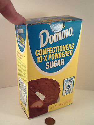 "ORIGINAL 1970's-vintage (Paperboard) ""DOMINO ~ Confectioners SUGAR"" (empty) BOX!"