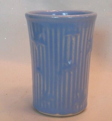 Vintage Shawnee Pottery Blue Star Juice Tumbler Marked USA