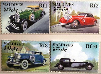 MALDIVES MALEDIVEN 2000 3649-52 alte Automobile old vintage Cars Autos MNH