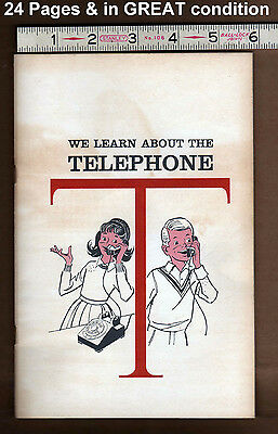 Vintage 1964 KIDS BOOK: Learn About the TELEPHONE rotoiry dial