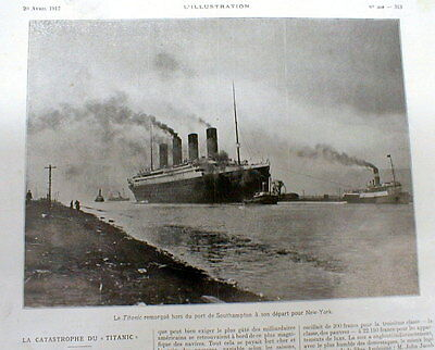 1912 highly illustrated newspaper RMS TITANIC ocean liner SINKS on MAIDEN VOYAGE