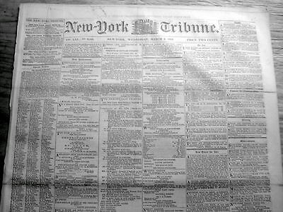 1862 newspaper DC OPPOSES ELIMINATION of SLAVERY in Washington + FUGITIVE SLAVES
