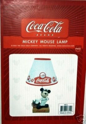 Mickey Mouse lamp  by Coca-Cola to celebrate the 75th Anniversary In Box NOS