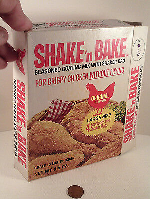 "ORIGINAL 1970's-vintage (Paperboard) ""General Foods ~ SHAKE'n BAKE"" (empty) BOX!"