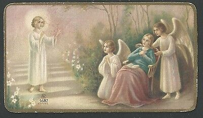 Estampa antigua de Jesus Bambino santino holy card image pieuse