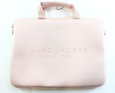 "Marc Jacobs NEW Pale Blush Pink Neoprene 13"" Travel Computer Case Bag $125- #033"