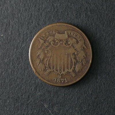 1871 Two (2) Cent Piece Great Deals From The TECC Bargain Bin