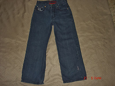 Coogi Boys Size 10 W/27 Loose Fit Baggy Wide Leg Jeans