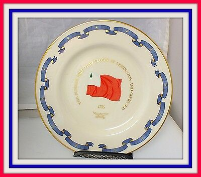 Danbury Mint Collectors Plate 1777-1977 The Bunker Hill Flag Flags of America