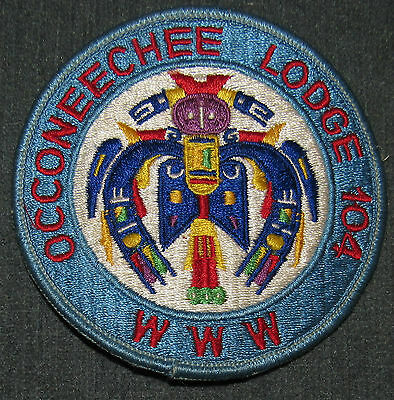 Occoneechee Lodge 104 R11a Round OA Patch Order of the Arrow Occoneechee Council
