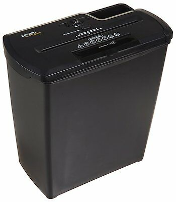 AmazonBasics 8-Sheet Strip-Cut Paper/Credit Card/CD Shredder w/ Basket NEW MP