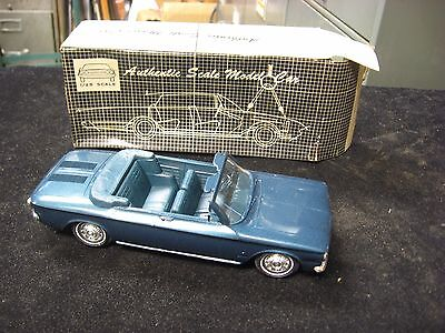 Vintage 1963 Chevrolet Aqua Marlin Corvair Convertible Promotional Plastic Car