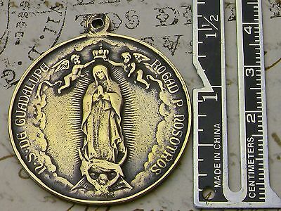 Carmelite Nun's Antique Leon XIII Coronation Our Lady of Guadalupe Bronze Medal