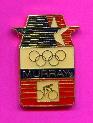 1984 LA Olympic Murray Cycling Pin Official Sponsor Vintage Domed Enamel Pin