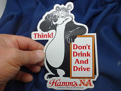 HAMM'S Beer Bear Label Unused 6 1/2""