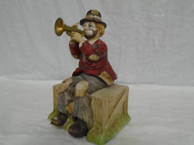 Vintage Waco Melodies In Motion Willie The Hobo Clown Trumpet Player (500)
