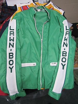 Rare Vintage LAWN BOY green nylon Jacket adult sz large Swingster lawnmower 70's