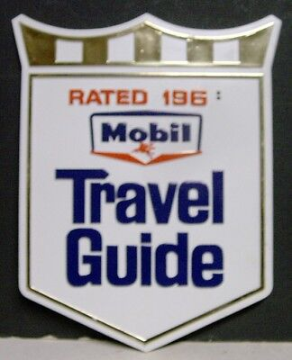 1960's Mobil Travel Guide Plastic Sign