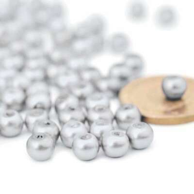 200pcs White Glass Pearl Round Spacer Beads Loose 4x4mm Wholesale DIY FBGP1-1