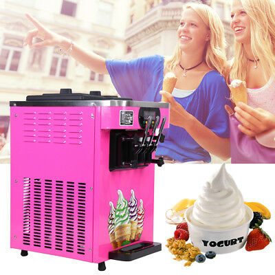 Commercial Soft Ice Cream 3 Flavor Steel Frozen Yogurt Cone Maker Machine