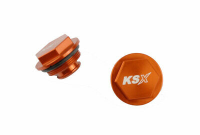 KSX Deckel Fussbremszylinder KTM 04- orange Cover foot brake cylinder