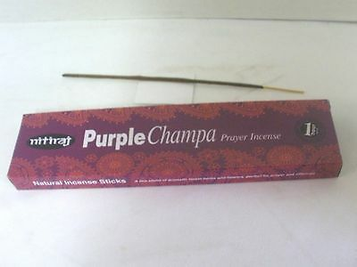 Nitiraj Purple Champa Incense Sticks - Prayer - 25 grams