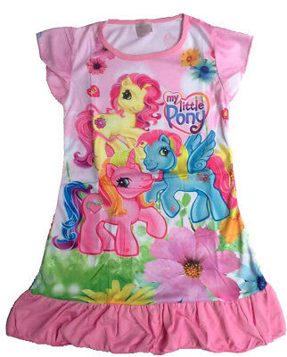 My Little Pony Children Dress Kids Girls Pajama Nightwear Sleepwear 3-10 Yr Pink