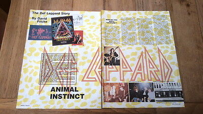DEF LEPPARD 'Animal instinct' 4 page ARTICLE / clipping