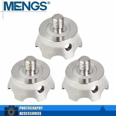 "MENGS TS-3 (3 Pieces) 3/8"" Screw Camera Spikes For Monopod Tripod Benro"