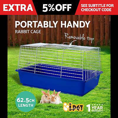 Pet Rabbit Cage Bunny Hutch Ferret Guinea Pig Run Chinchilla House Carrier Large