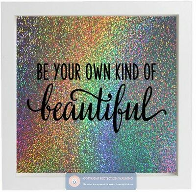 Vinyl Sticker for IKEA FRAME Be Your Own Kind of Beautiful - Inspirational Quote