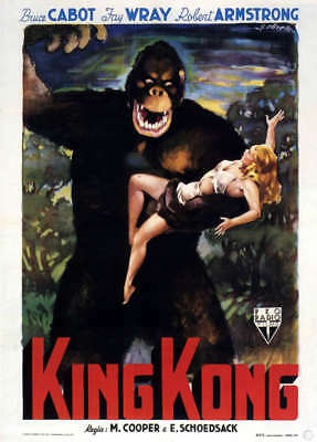 """King Kong Classic Vintage  poster CANVAS ART PRINT 8""""X 10"""" colour Fay Wray"""
