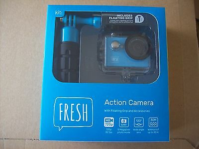Kit: Fresh Action Camera With Floating Grip And Accessories....blue