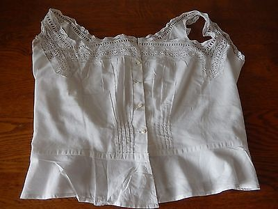 Ancien Caraco /bustier / Broderie Anglaise / Linge Ancien