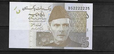 PAKISTAN #53a 2008 UNC MINT 5 RUPEES BANKNOTE PAPER MONEY CURRENCY BILL NOTE
