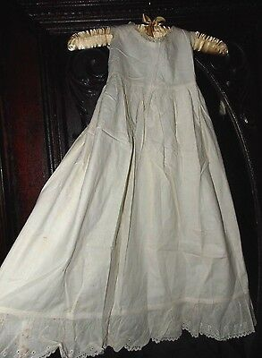 Antique 1800s Gorgeous Victorian Embroidered Romantic Dress Christening Gown