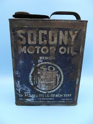 ORIGINAL Vintage STANDARD Socony OIL CAN 1 Gallon