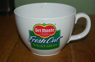 "Large 4.75"" diameter Del Monte Vegetables Cup Soup Bowl advertising collectible"