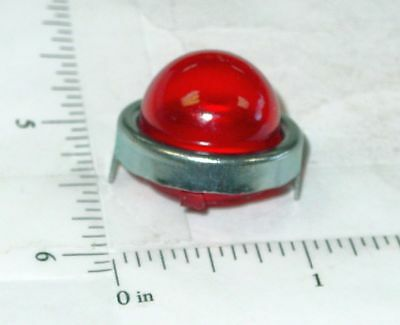 Structo Reproduction Red Flasher Light w/Chrome Trim Ring Toy Part