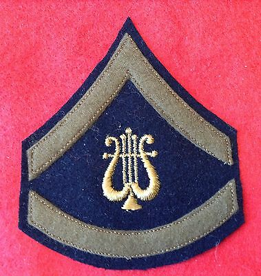 Nice Orig Embroidered Pre- Ww2 Us Army Musician Private First Class Chevron