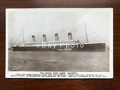 RMS Olympic Real Photo / White Star Line / RMS Titanic