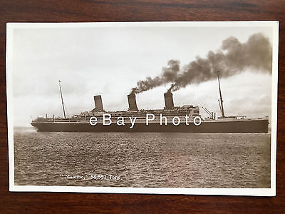 RMS Majestic Real Photo Postcard / White Star Line / RMS Olympic