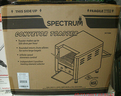 NEW IN BOX!! Winco ECT-500 Countertop Spectrum Conveyor Toaster FREE SHIPPING!!