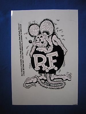 "Rare Authentic Rat Fink Sticker Personally Hand Screened By Ed ""big Daddy"" Roth!"