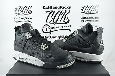 91e5a71e3875c7 NIKE AIR JORDAN IV 4 Retro LS BG GS Oreo Black Tech Grey Cement vi ...