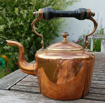E V Wilkes Co 2 Pint Victorian Copper Kettle 19th Century Made In Birmingham