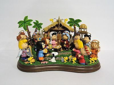 Danbury Mint Peanuts Sculpture THE PEANUTS NATIVITY