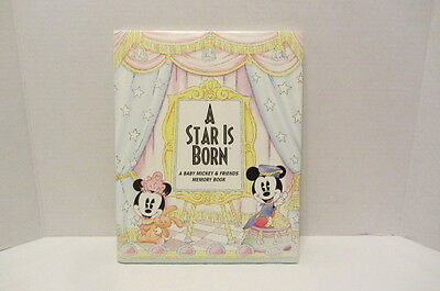 Disney Baby Book A Star Is Born - A Baby Mickey & Friends Memory Book 1995 RARE
